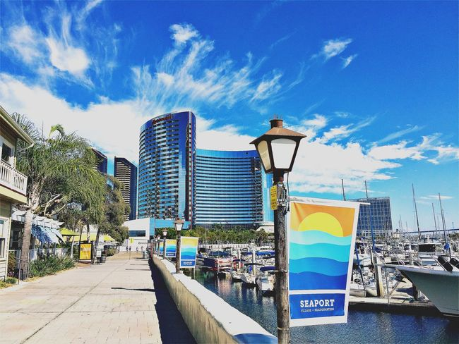 Seaport Village Boardwalk San Diego Boardwalk Boats Yahts Sunny Day Hipstamatic I Love My City