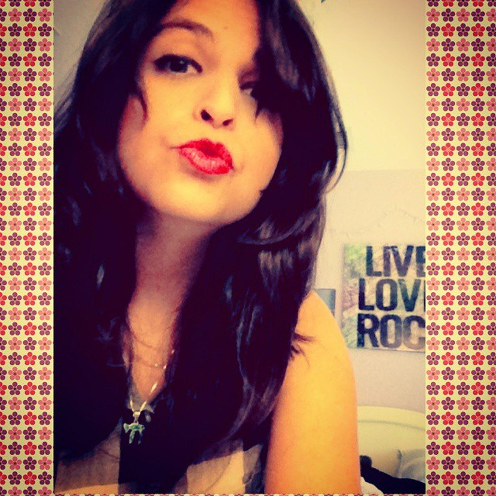 Kisses ?❤ Kisses Sendinglove Muah  Love longhair redlips