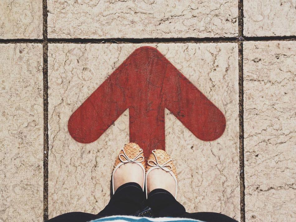 Beautiful stock photos of floor, Arrow Sign, Direction, Directly Above, Human Leg
