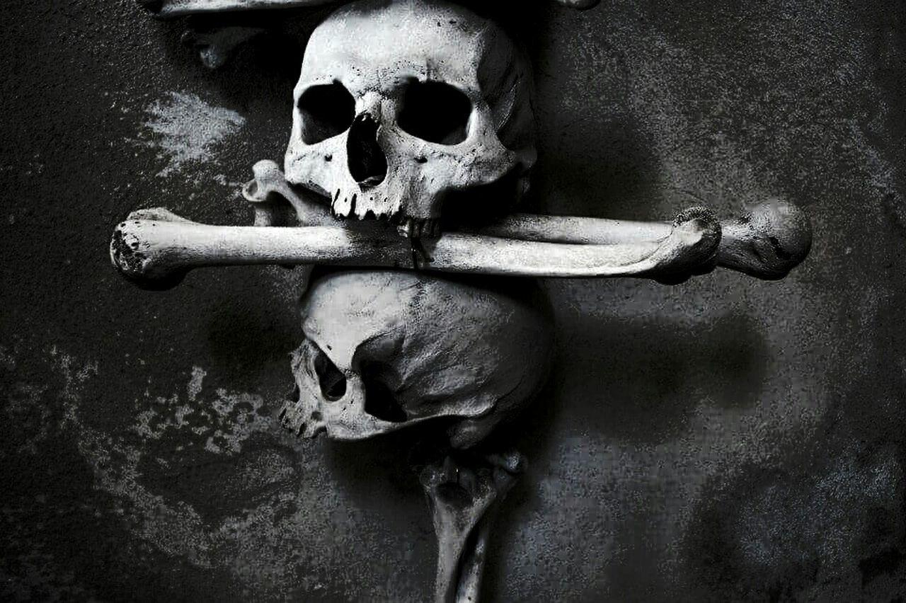 Kostnice  Death Bones Skulls Art Cemetery