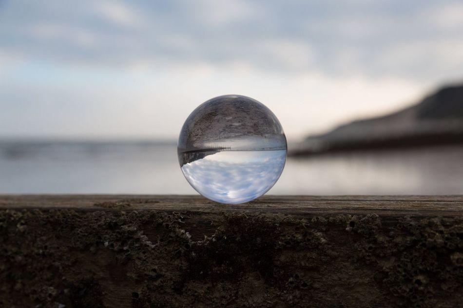 Seaside Reflection crystal Ball Beach