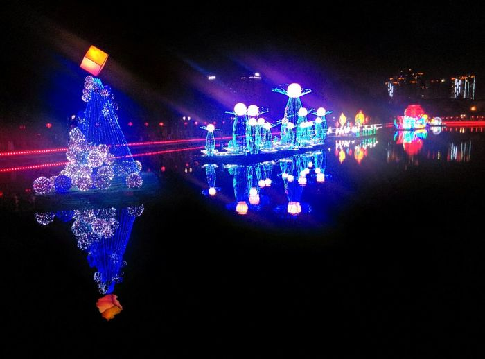 The lighting exhibition of lantern festival in Kunming. Exhibition Lanternfestival Kunming Kunming, China Night Lights