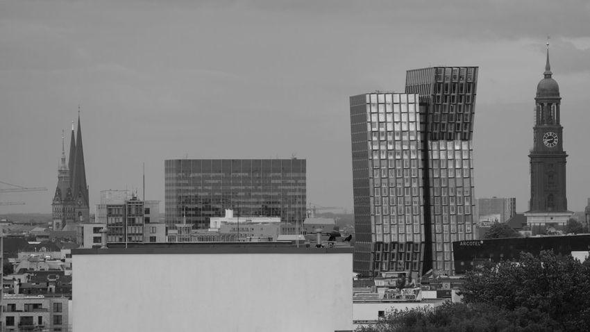 Architecture Blackandwhite Building City Contrast Hamburg Modern Office Building Tower Travel Destinations
