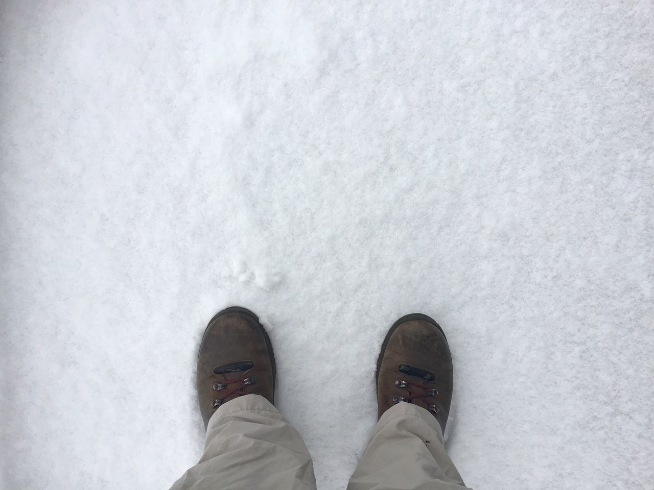 Low Section Shoe Standing Human Leg Personal Perspective Human Body Part Lifestyles One Person Close-up Snow Winter Cold Temperature Day Outdoors One Man Only Snow ❄ Fresh Snow First Outside Photography Nature Footsteps Legs Shoes ♥