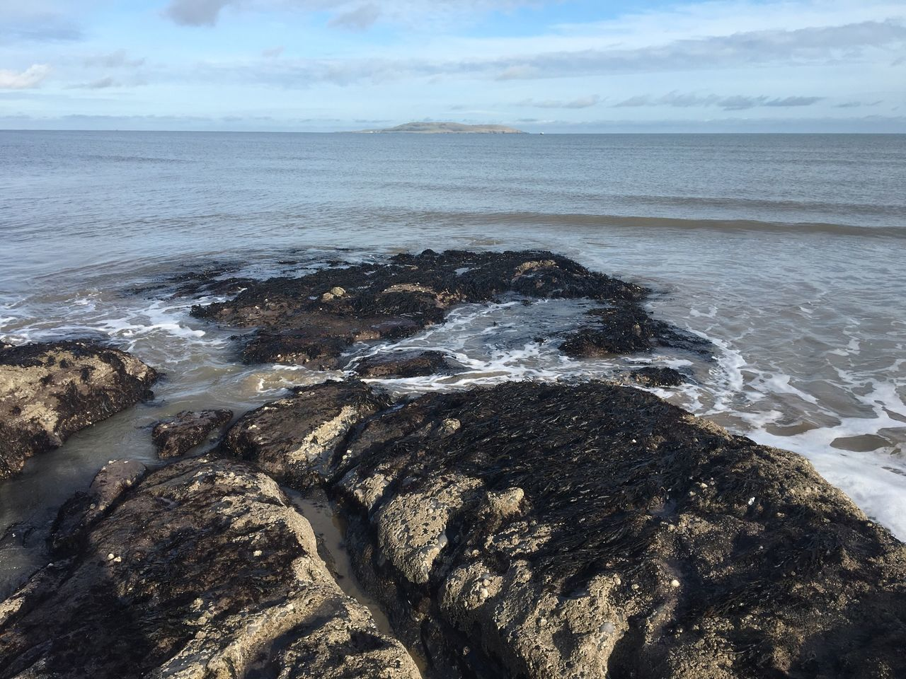 Rocks Sea Island Ireland Malahide  Fingal Rocks And Water Land Meets Sea Sea And Sky The KIOMI Collection