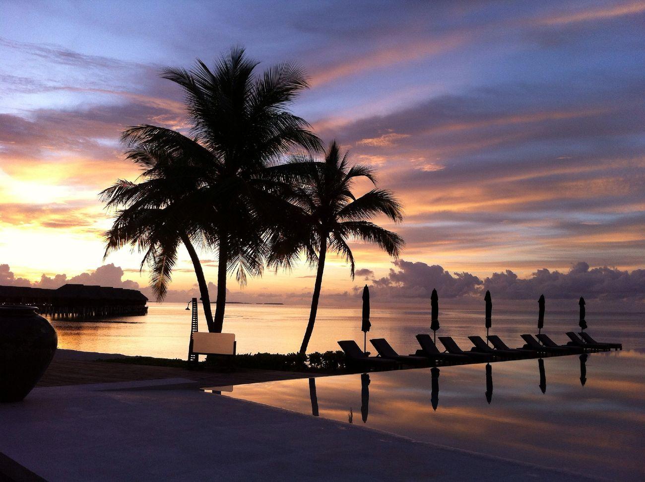 sunset at LUX* Maldives Sunset