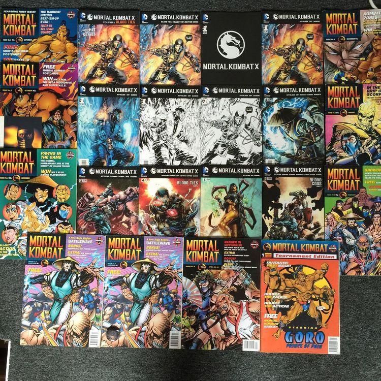 my Colletion of Mortalkombat Comic 's Videogames
