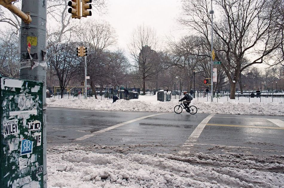 East Village, January 2016 City City Life City Street Snow Bicycle Eastvillage Manhattan Film Photography 35mm Film Lomography Color Negative 100 Elan7 Ishootfilm Streetphoto_color Street Photography Streetphotography Street