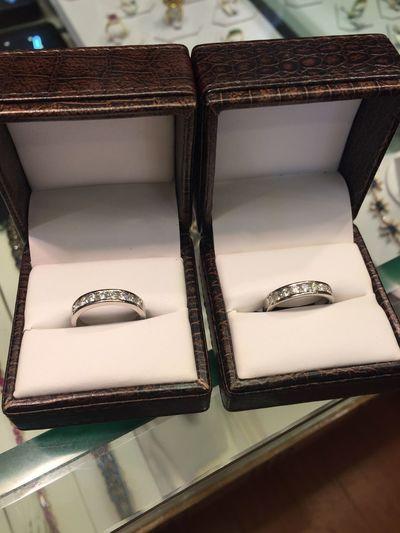 First Eyeem Photo Platinum Diamonds Matching Pair Ring Wedding Wedding Rings