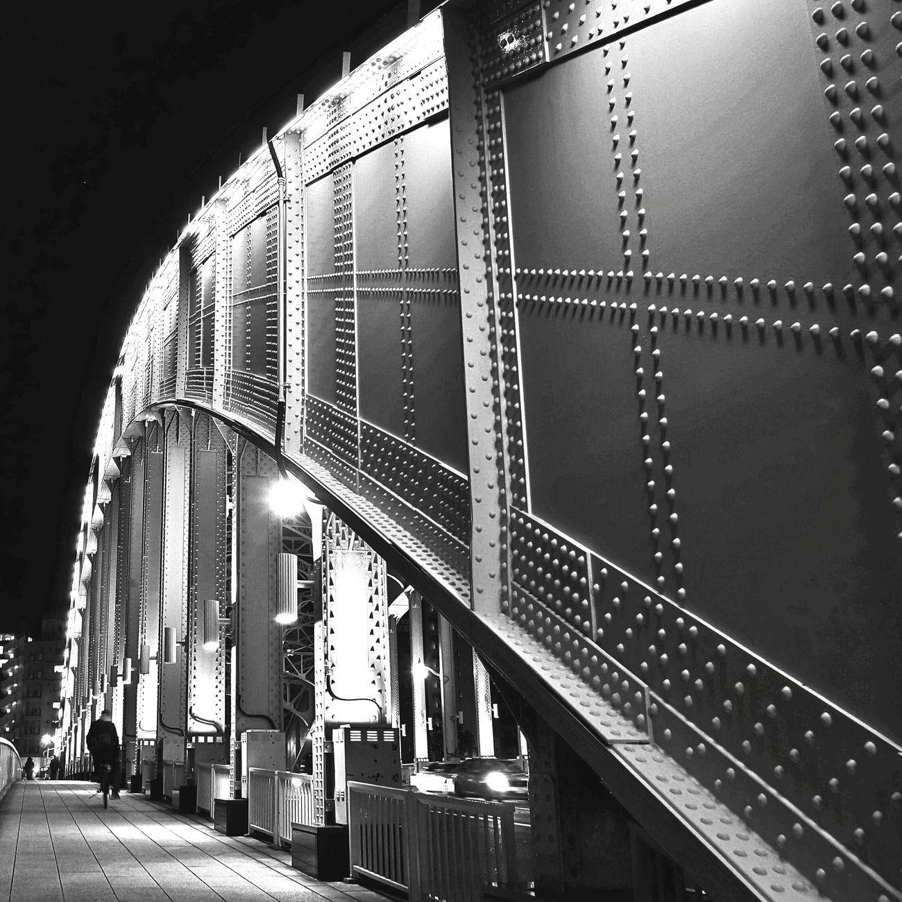 Streetphoto_bw Night View Bridgeporn Monochrome Blackandwhite Cityscape Urban Escape