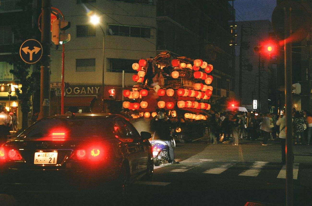 Japan Nagoya Festival Festival Car Night Night Lights Crossroads 山車 若宮祭
