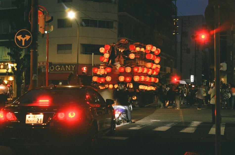 Japan Nagoya Festival Festival Car Night Night Lights Crossroads 山車 若宮祭