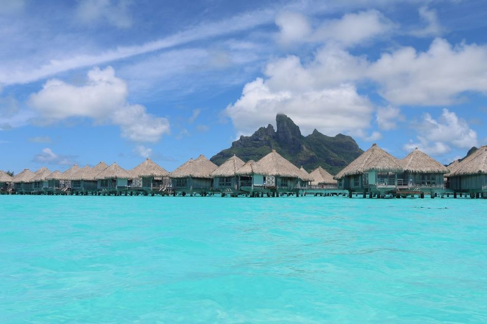 Beautiful stock photos of bora bora, water, scenics, tranquil scene, beauty in nature