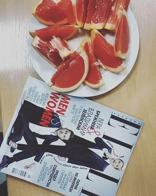 Goodmorning Elleua Elle Grapfruit Atwork Breakfast Winter Fruits Magazine Instamorning 🍊