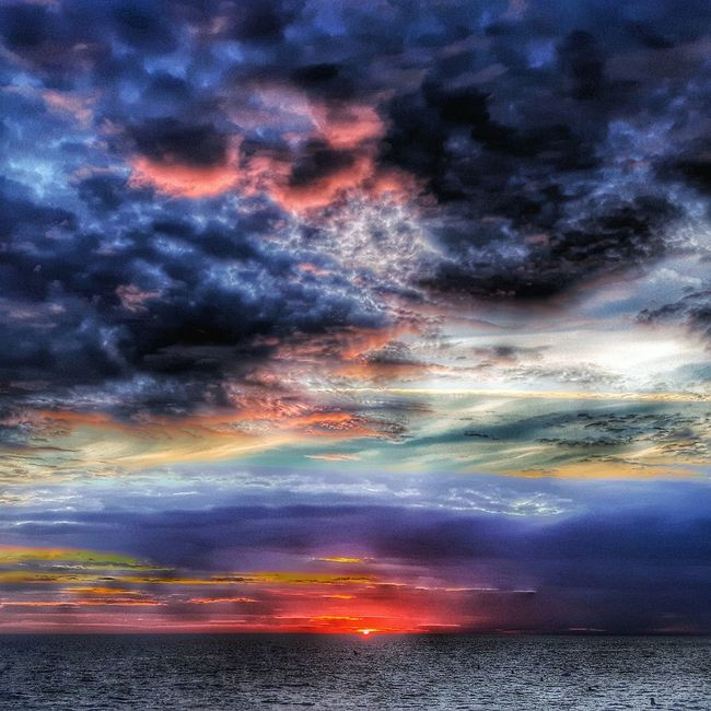 donville Sunset Scenics Water Horizon Over Water Dramatic Sky Cloudscape Seascape