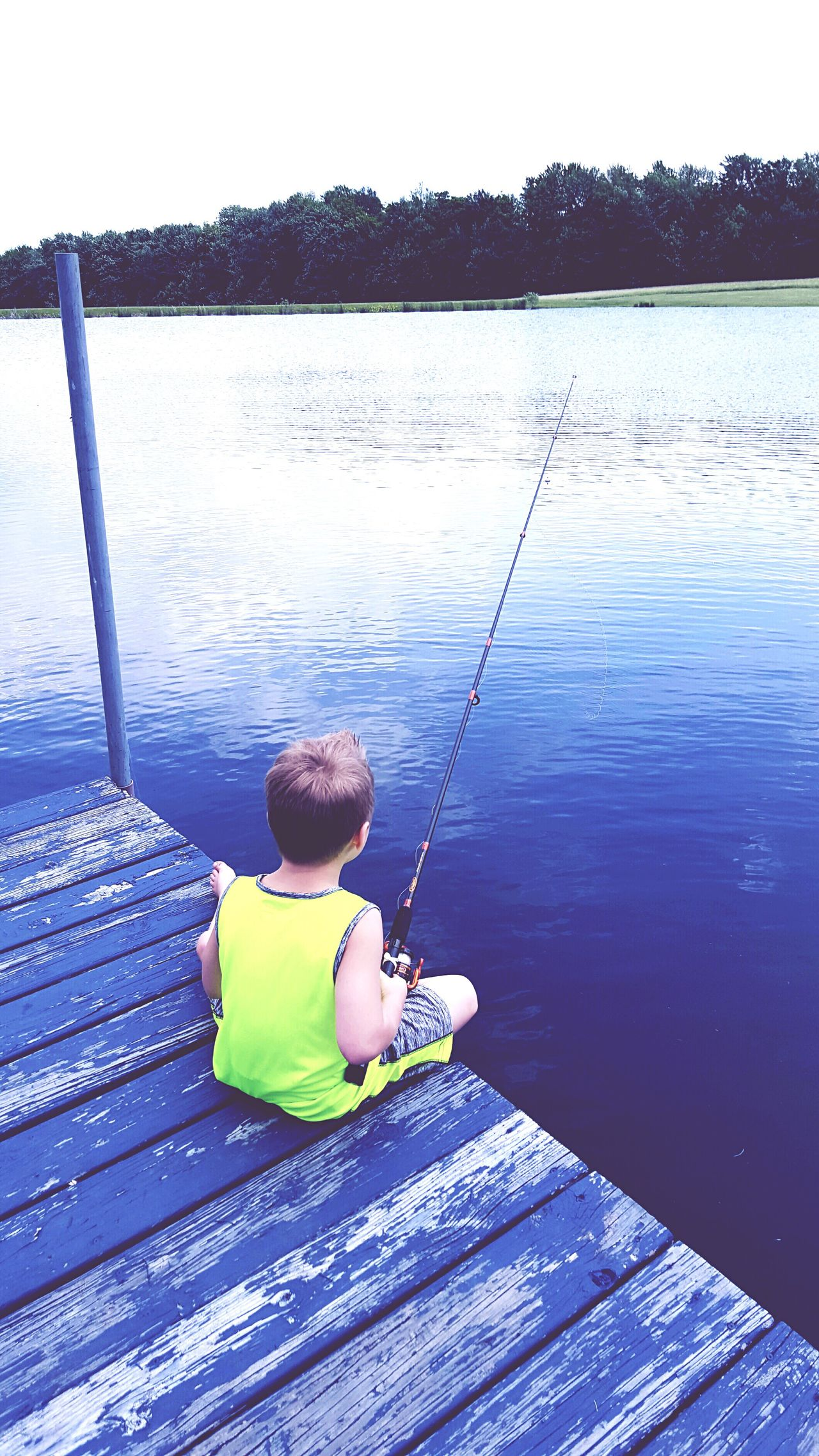 Water Sitting Lifestyles Lake Boys Weekend Activities Day Rear View Hobbies Relaxation Tranquility Vacations Leisure Activity Fishing Getting Away From It All Endicott Ny