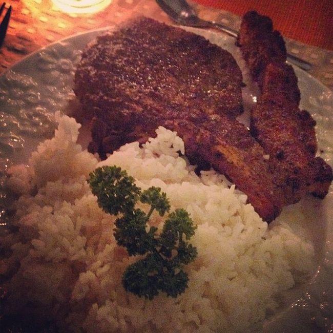 Grilled loin chop. Marciaadams