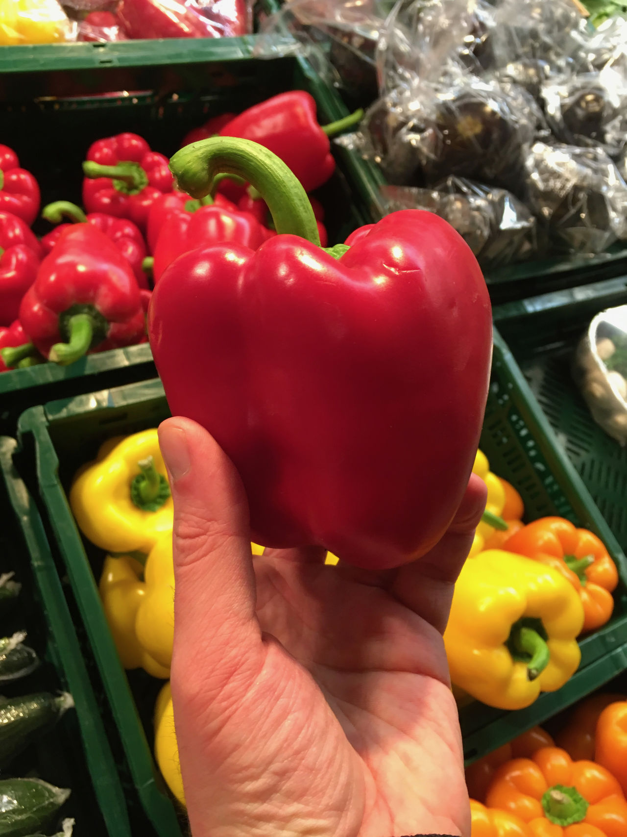 Backgrounds Bell Pepper Choice Close-up Day Food Food And Drink Freshness Healthy Eating Large Group Of Objects Market No People Outdoors Red Red Bell Pepper Variation Vegetable Yellow Bell Pepper