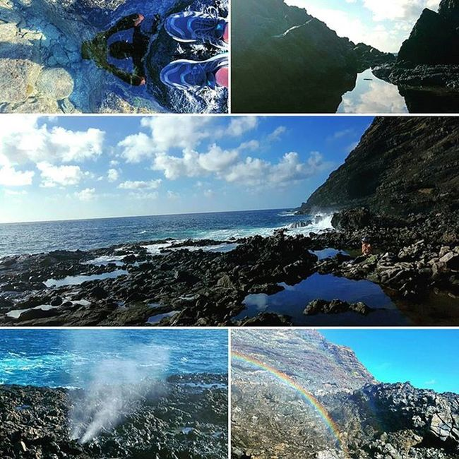 Second hike of the year! Onaroll HiLife Makapuutidepools Blowhole Dragonsnout Rainbow Reflection Venturehawaii GodIsGood Fitlife Epichi Shenanigans Makapuu Hawaii