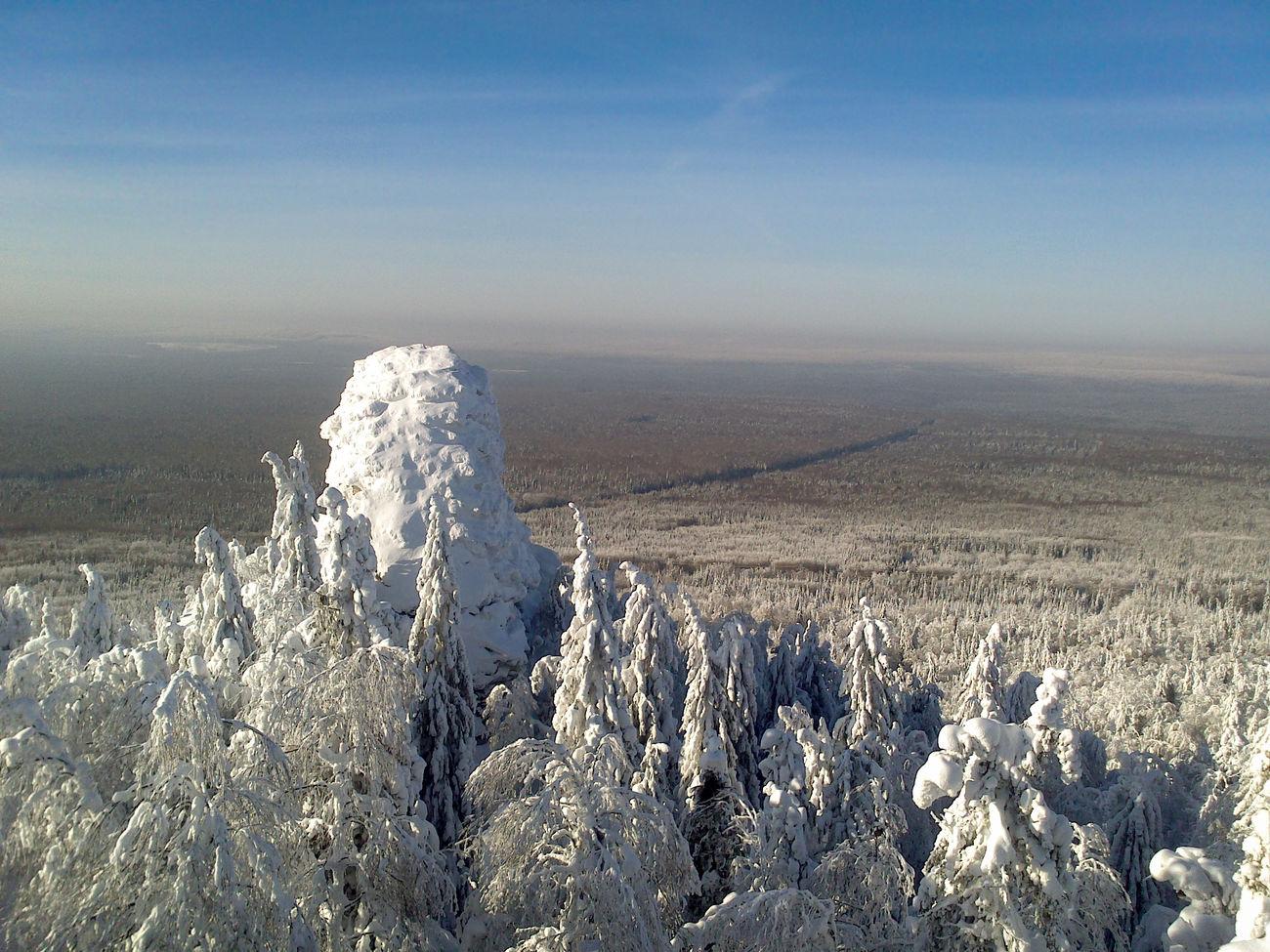 Камень Чёртов палец Forest Snow ❄ Nature Landscape