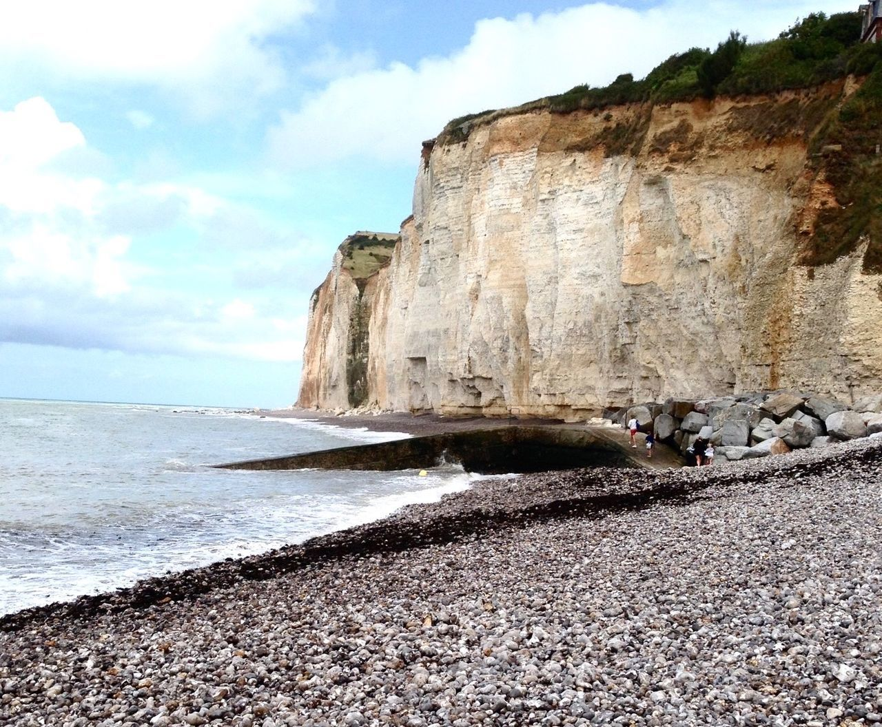 Normandy Beach Cliffsandsea Region Of The Impressionist Painter Sea View Sky And Clouds