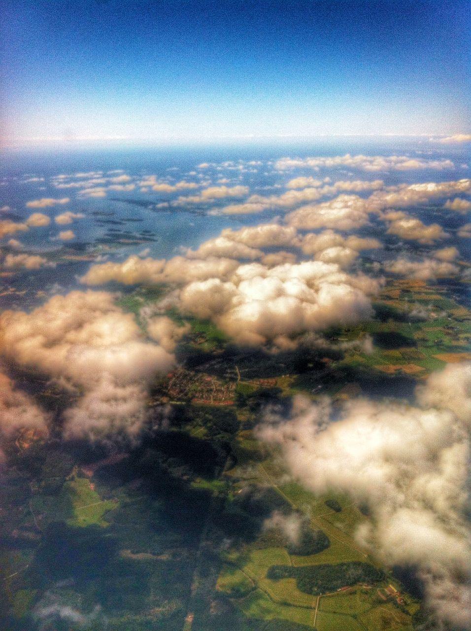 Aerial shot of cloudscape