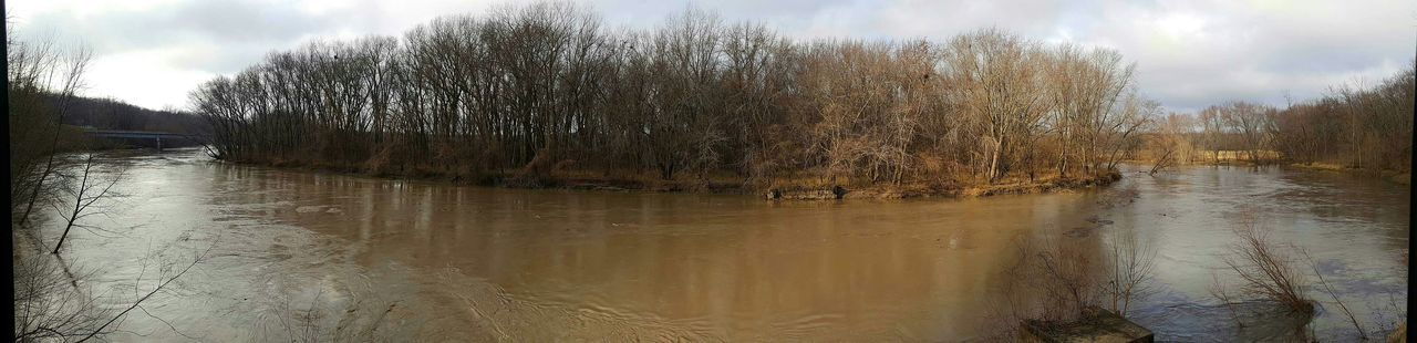 Platte River near flood stage. Panoramic Photography Panoramic View Panorama River River View Riverbank River Collection Showcase: December EyeEm Best Shots My Best Photo 2015 Check This Out Look! Protecting Where We Play Water_collection Eye4photography  The Purist (no Edit, No Filter) No Filter, No Edit, Just Photography Samsungphotography No People Naturelovers Exploring New Ground Melancholic Landscapes Nature's Diversities Ice Age Beauty In Nature