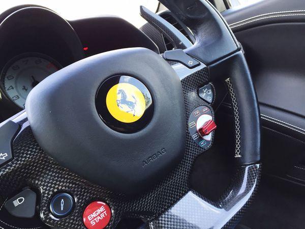 EyeEm Selects Transportation Car Mode Of Transport Black Color Land Vehicle No People Car Interior Day Close-up Technology Outdoors Ferrari Ferrari458Italia 458 458speciale 488gtb LaFerrari P1 Buggati