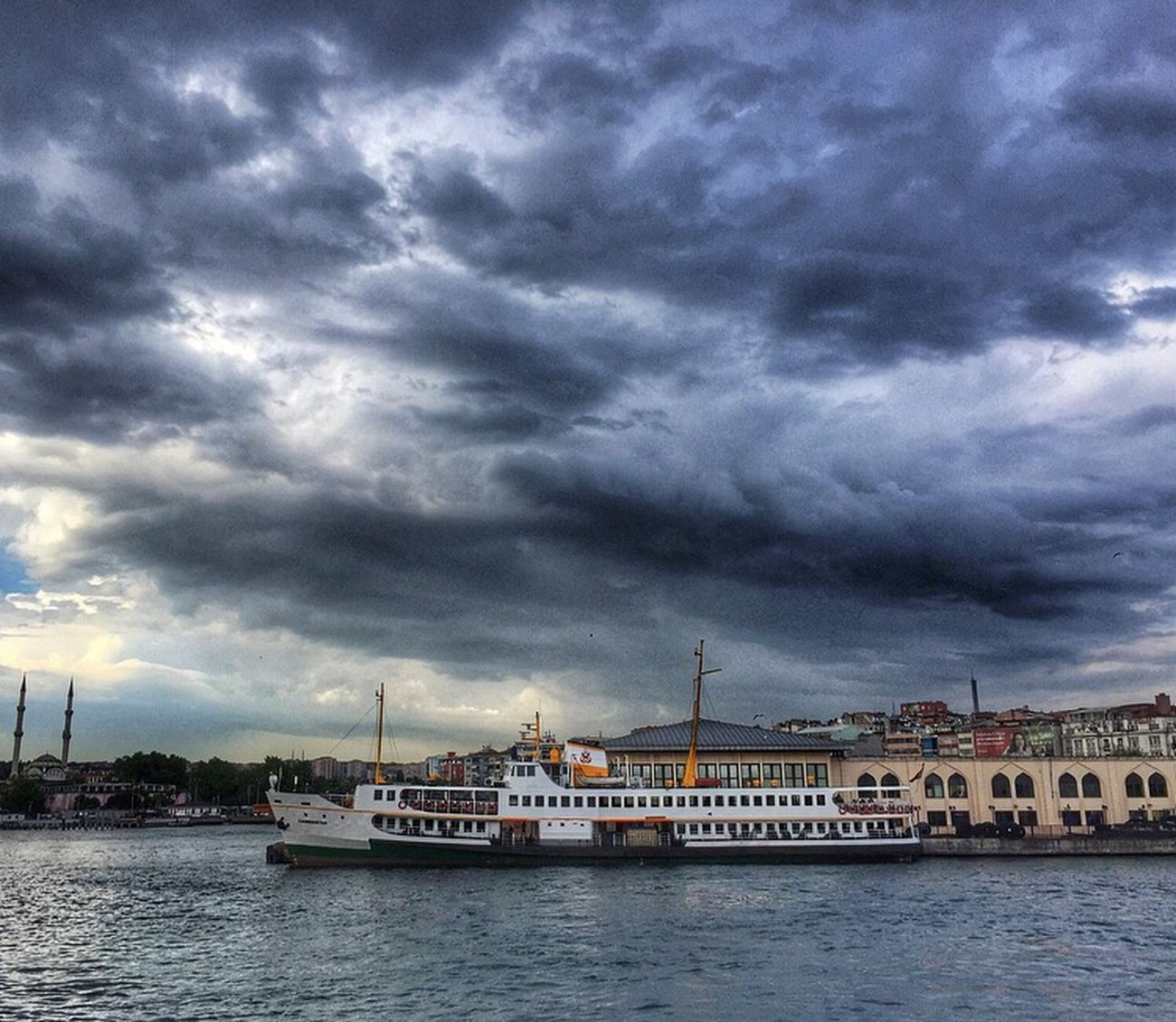 Cloud - Sky Nautical Vessel Sky Mode Of Transport Dramatic Sky Transportation Water Built Structure Building Exterior Architecture Storm Cloud Outdoors Nature Waterfront Day Sea Travel Destinations No People Tranquility City