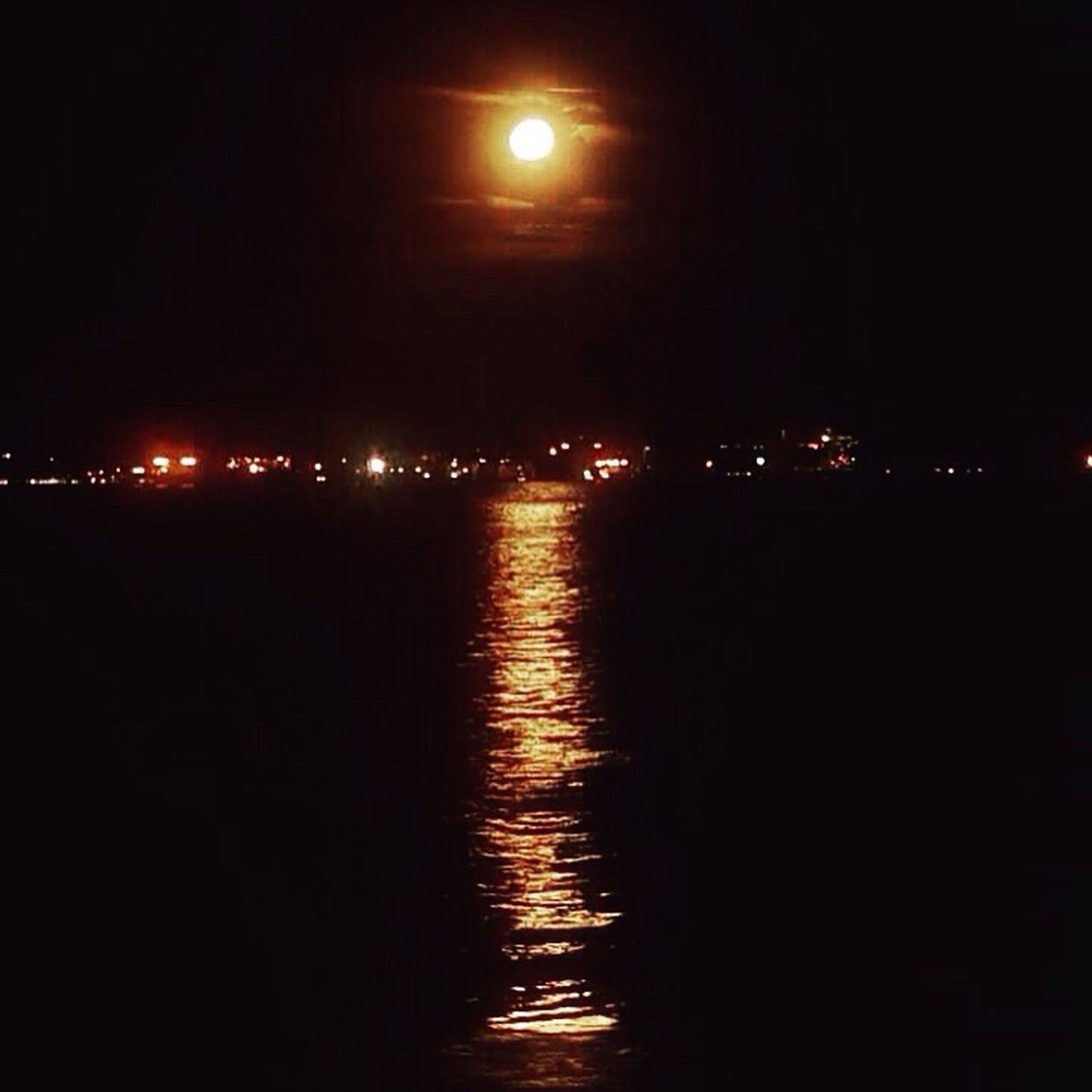 night, reflection, water, sky, moon, illuminated, no people, nature, sea, scenics, beauty in nature, city, outdoors