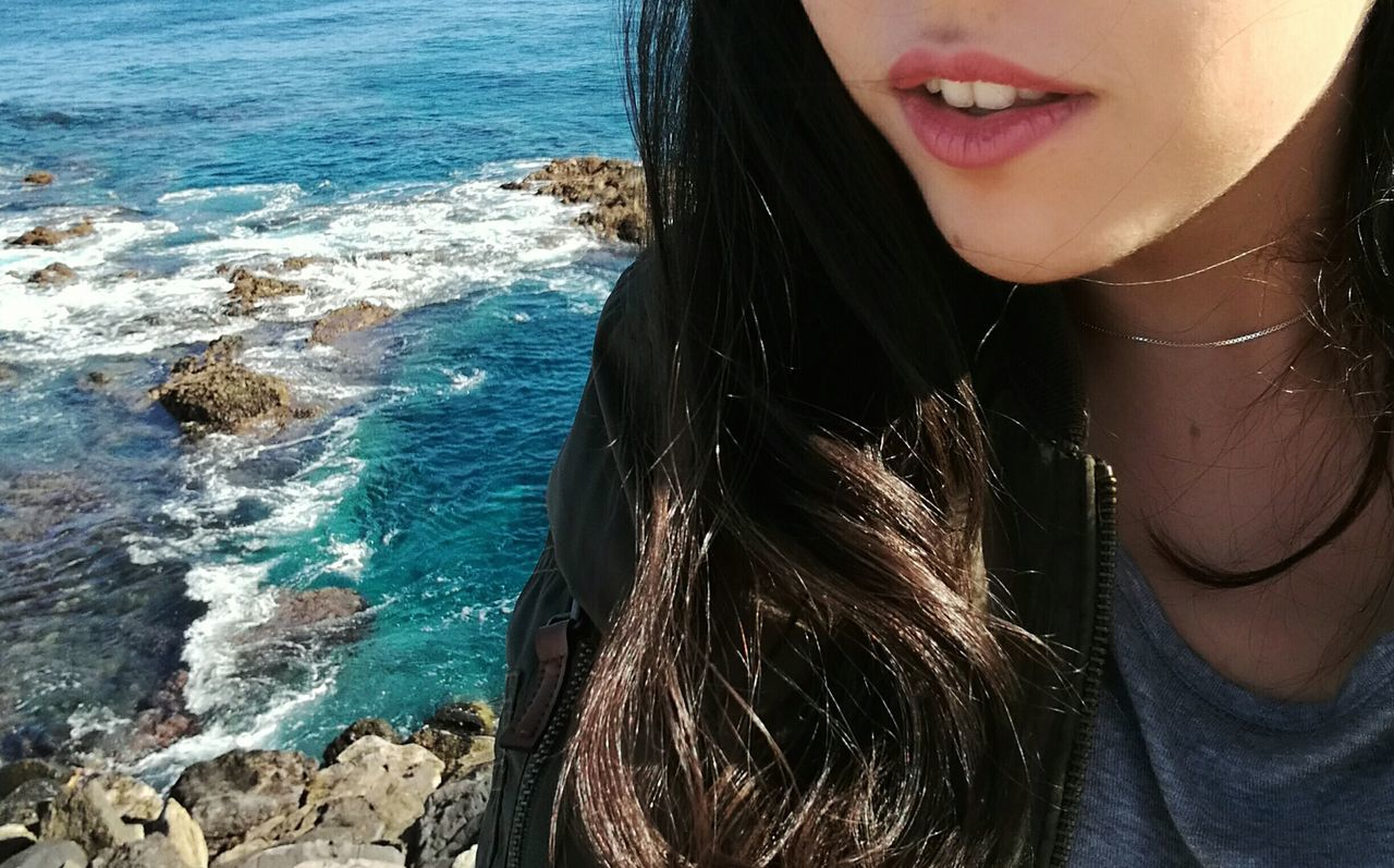 Woman Nature Sea GranCanaria Island Canary Islands Selfie ♥ Lovethat Paradise Me Feel SPAIN Blue First Eyeem Photo