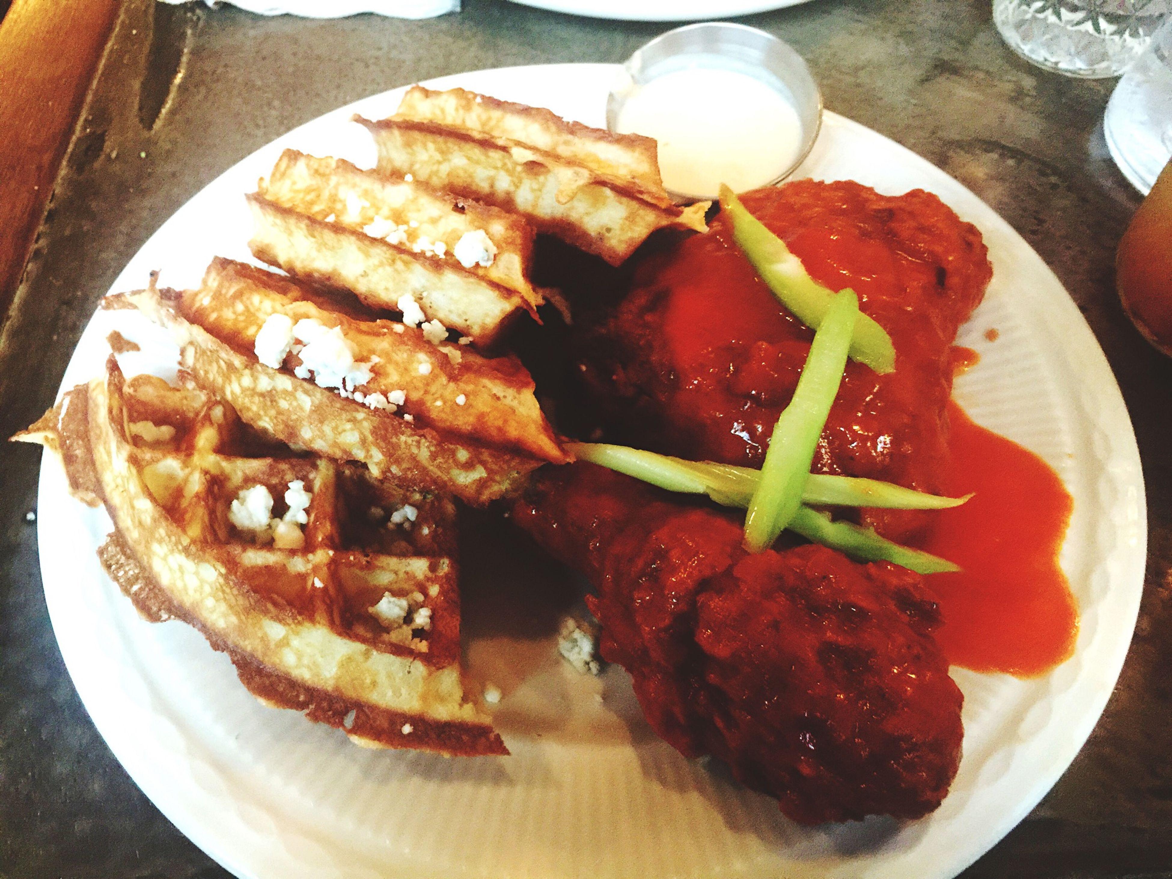 Buffalochicken Chickenandwaffles Food Dinner