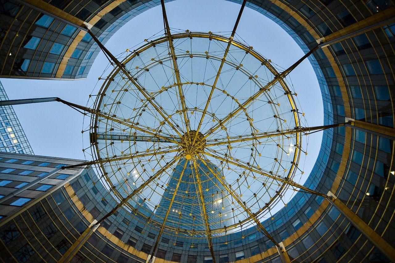 Architecture Skyscraper Travel Destinations Modern Low Angle View Circular Shape