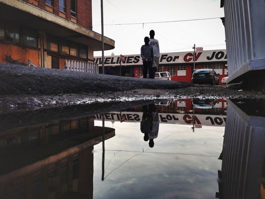 Puddleography at The Maboneng Precinct by Gareth Pon