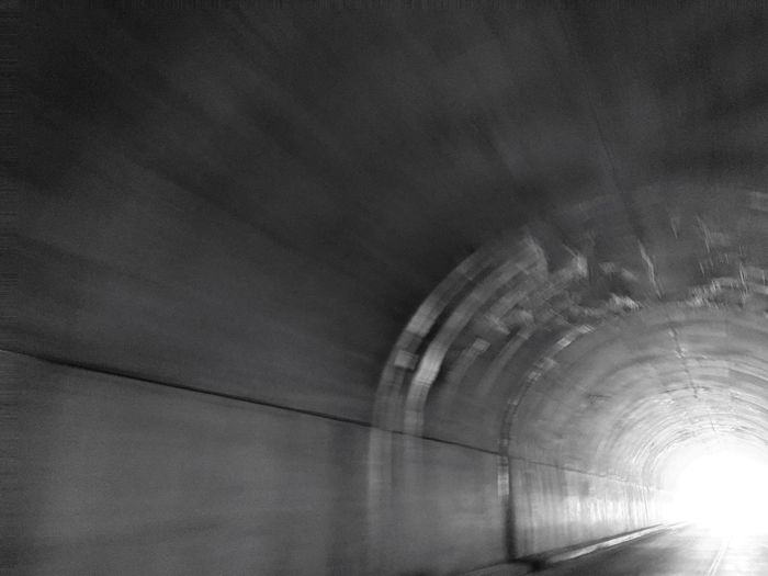 Tunnel in Glacier National Park Architecture Built Structure Arch No People Day Low Angle View Outdoors Building Exterior Sky