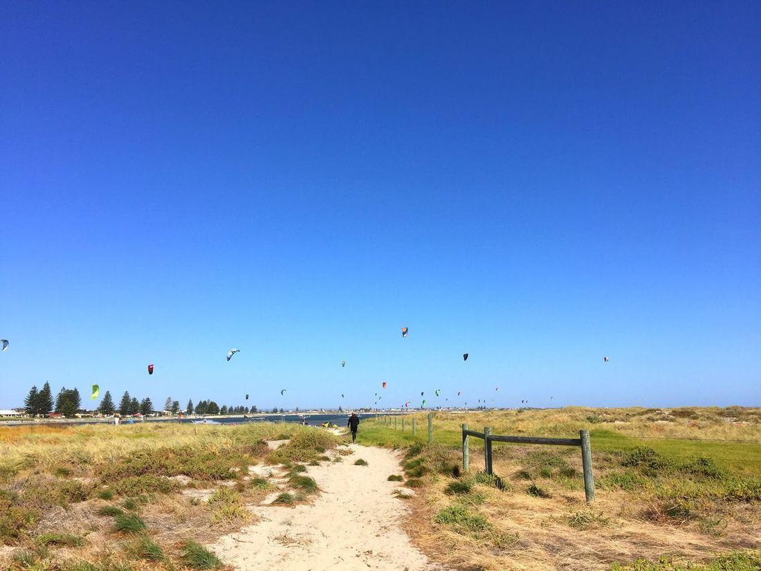 Australia Western Australia Perth Rockingham Rockingham Foreshore Shoalwater Kitesurfing Kitesurf Kite Kites Surfing Waves Wind Windy Beach Ocean Sea Sky Cloudless Sky Watersports Indian Ocean