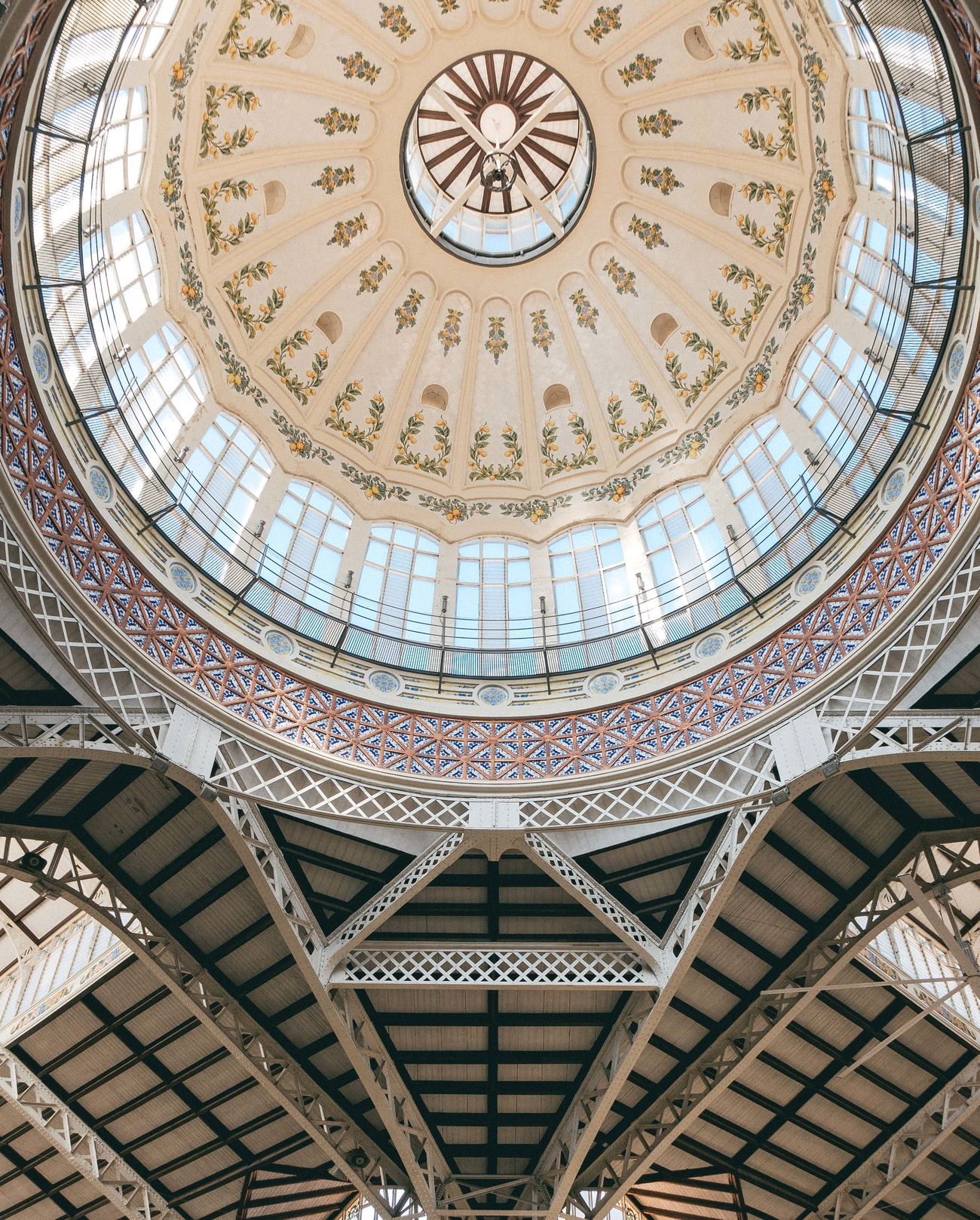 Architectural Feature Architecture Built Structure Ceiling Ceiling Ceiling Design Cupola Dome Indoors  Lookingup Travel Destinations Valencia, Spain València