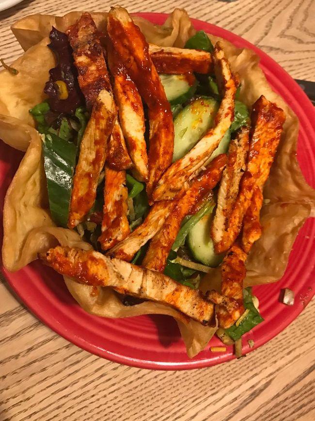 Food Close-up Healthy Eating Tacosalad  Tacoshell Dinner Mexican Food