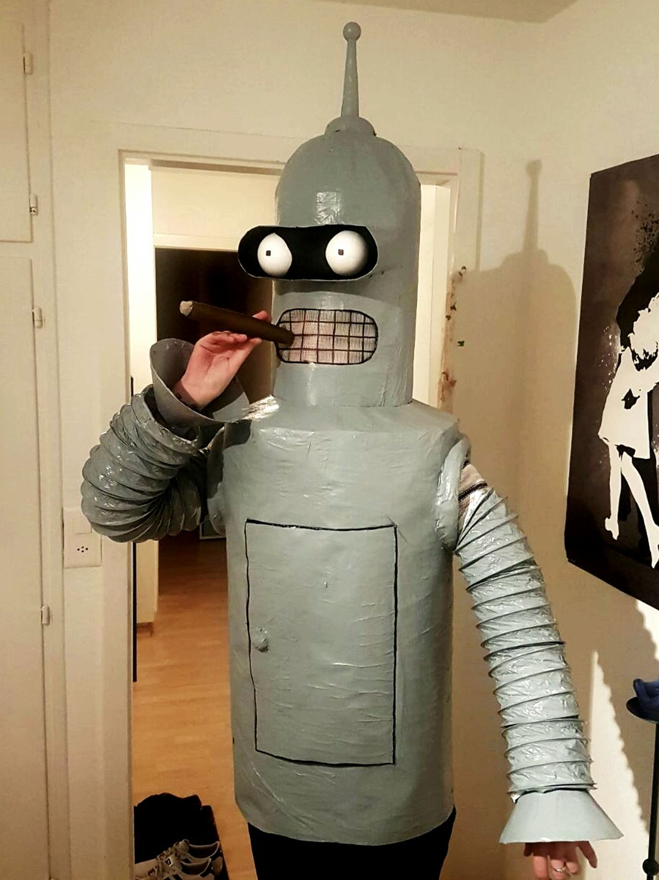 Fasnacht Futurama Bender Robot Selfmade Costume Carnevale Beready Party Time Brazil Carnival Crowds
