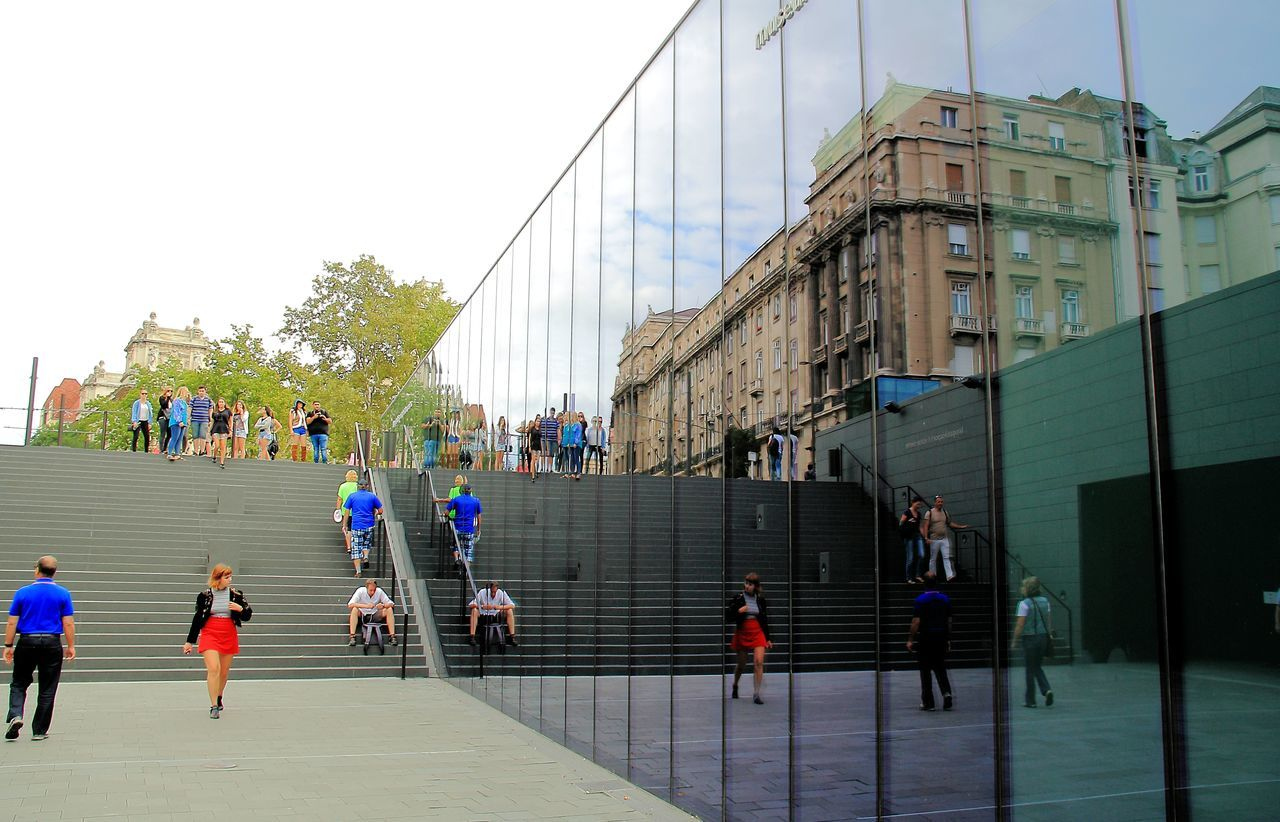 Feeling reflective Architecture Budapest Budapest, Hungary Building Exterior Built Structure Casual Clothing Day Large Group Of People Men Mirror Mirror Reflection Mirrored Mirrored Building Mirrored Image Mirrored Reflection Mirrored Trees Mirrored Windows Outdoors Person Reflection Reflection In Glass Reflections Reflections In Glass Sky Steps