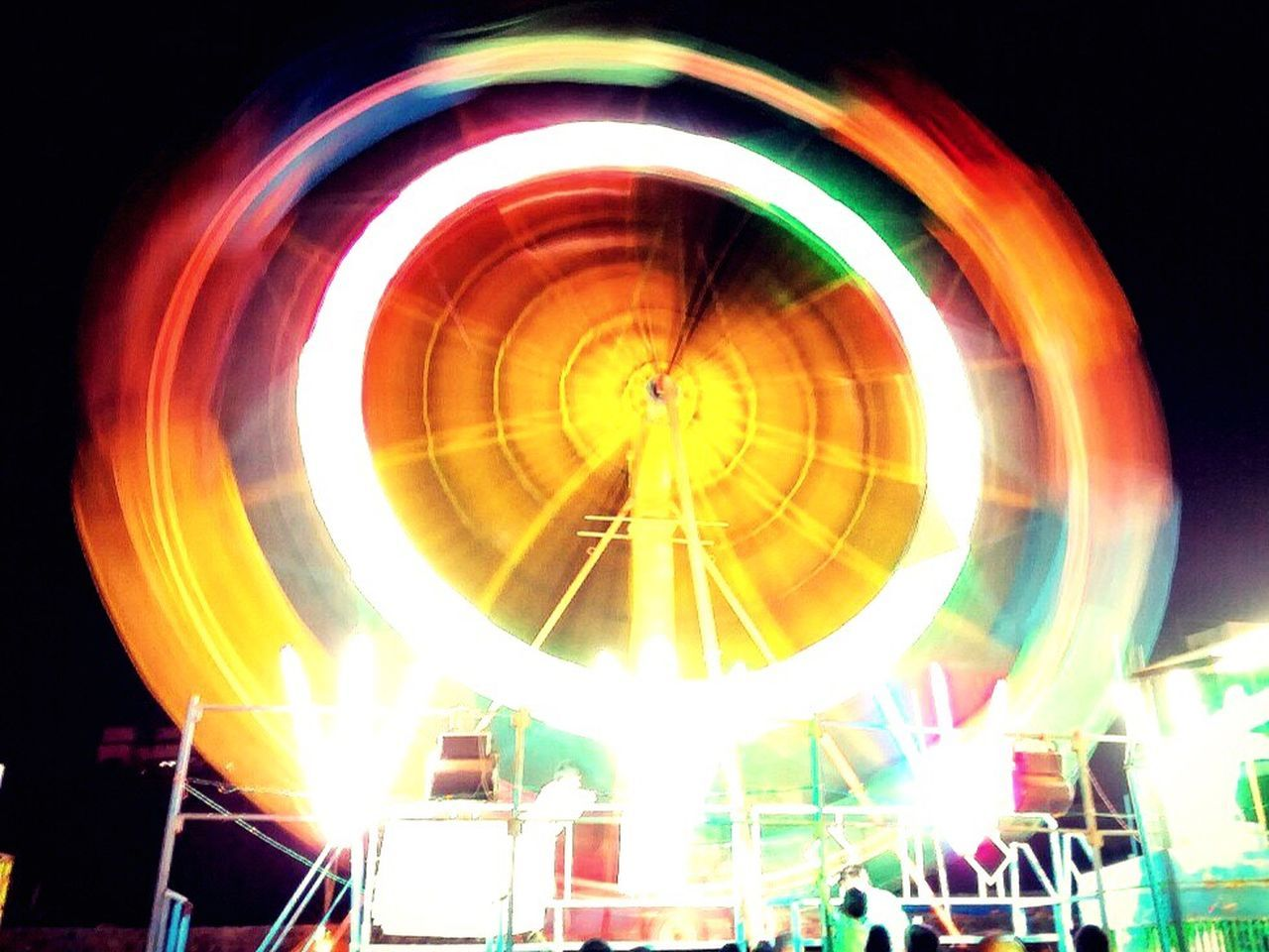 Fair Multi Colored Blurred Motion Long Exposure Illuminated Motion Arts Culture And Entertainment Nightlife Light Effect Night EyeEmBestPics Eyeemcollection India Eyeem Photography Eyeemphotography Phonephotography EyeEm Circle No People Fun