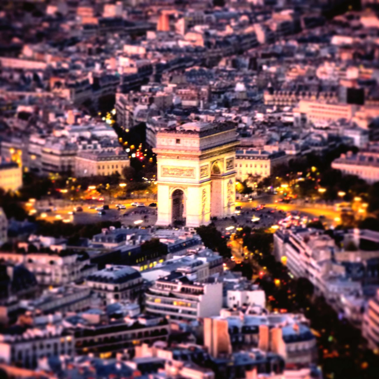 My Year My View Cityscape Panoramic Photography Amazing View Triumphal Arch Paris CityOfLights  Citylights