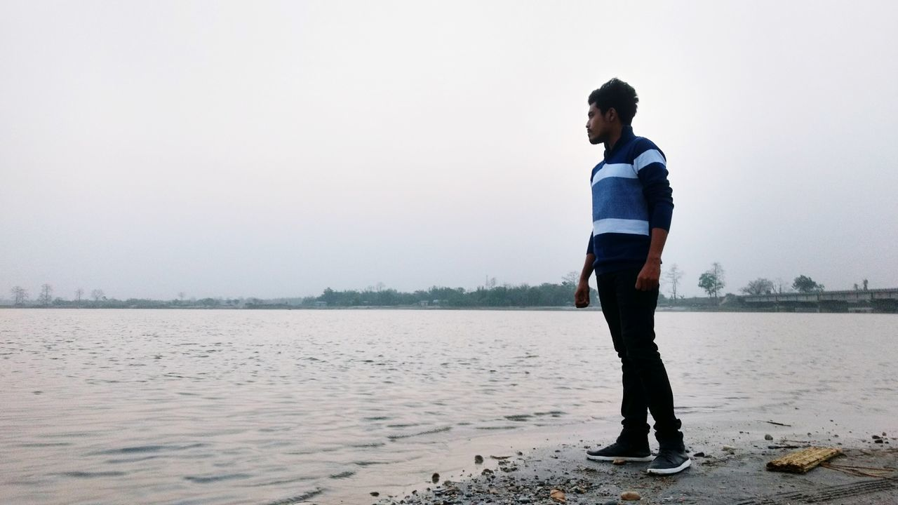 Where is my mind EyeEm Selects Standing Full Length One Person Casual Clothing Water Outdoors Nature Moto G4 Plus Shot With A Smartphone Camera