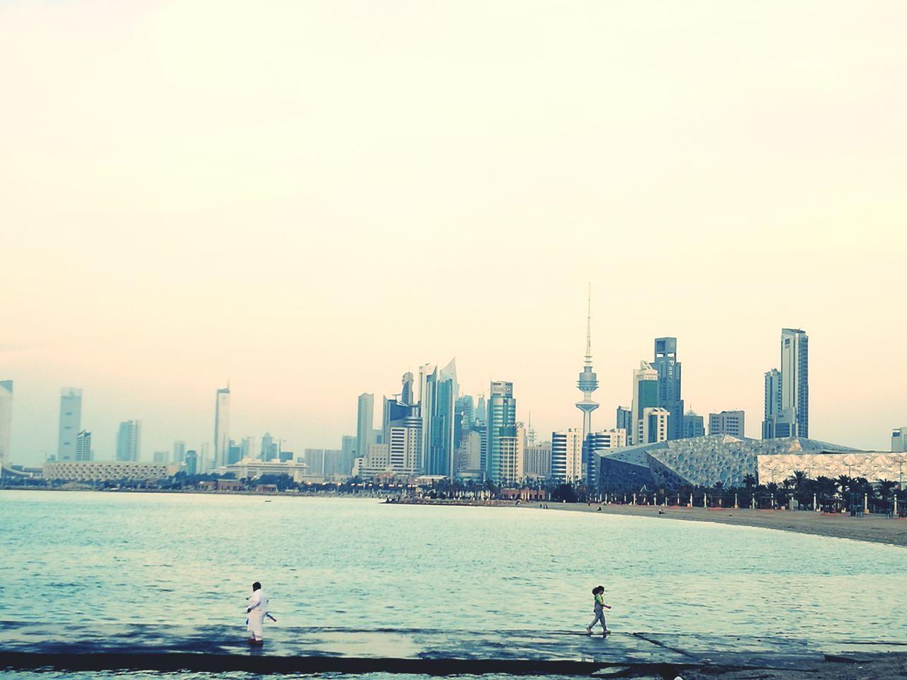Skyscraper City Cityscape Outdoors Water Sky Sea Travel Destinations Cloud - Sky Kuwait Kuwait City