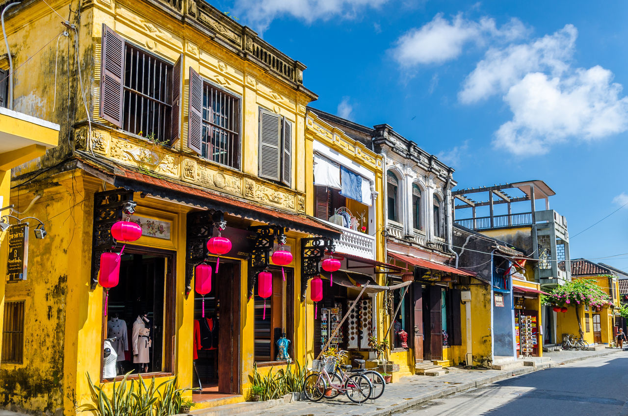 Hoi An during mid day Architecture City Heritage Historical Building Hoi An Street Sunny UNESCO World Heritage Site Yellow
