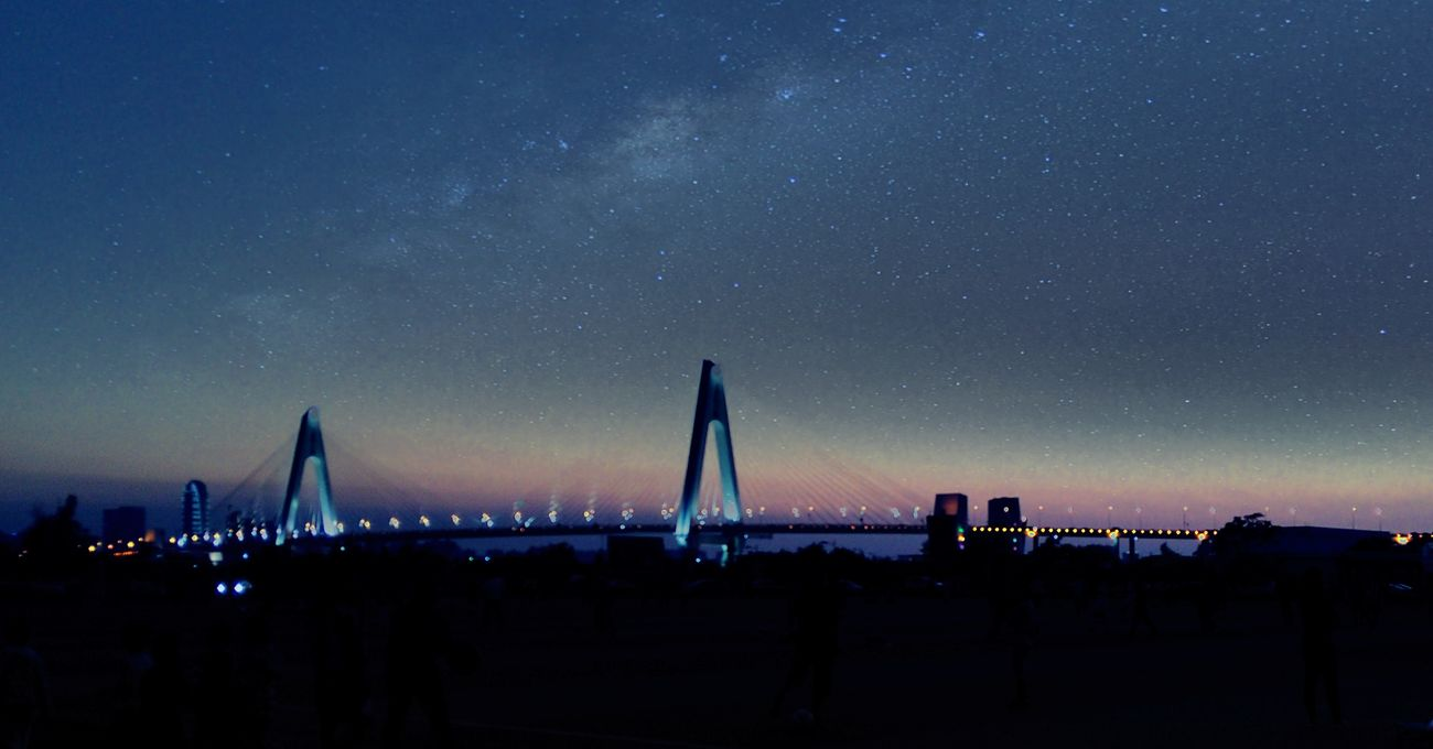 The Century Bridge in my dream~ Night City Nature Galaxy
