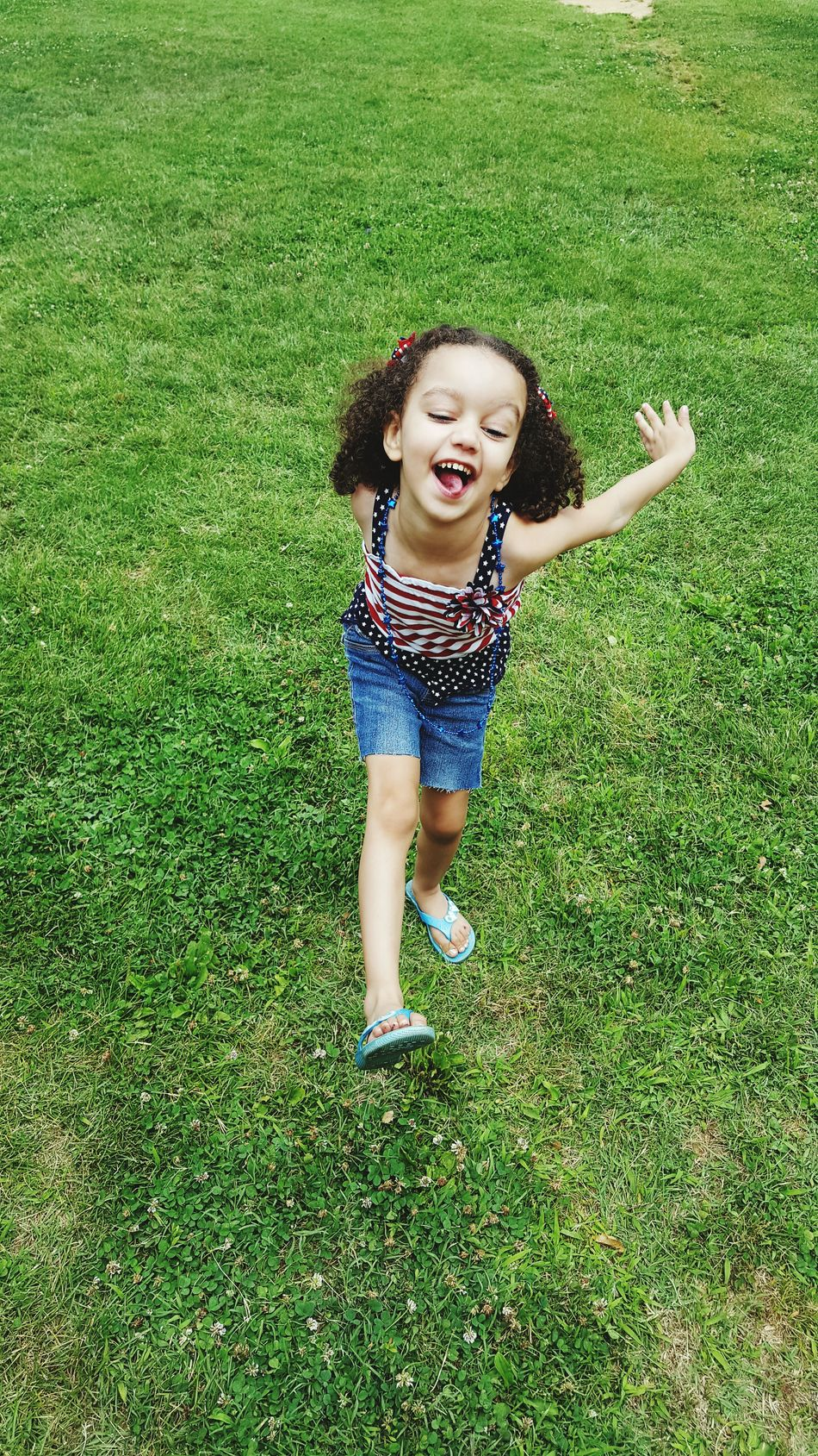 4th Of July 2016 Playground Kids Having Fun July 4th