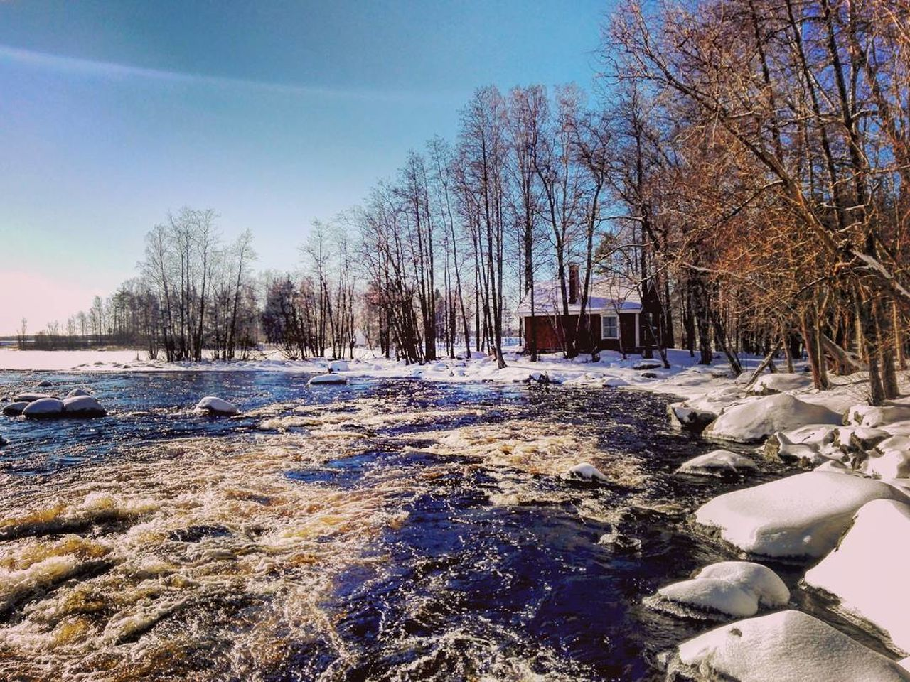 River Snow Winter Outdoors Photographer Naturebeauty Sunlight Photography Naturelovers Colourful Flowing Water Nature Photography Landscape_photography Naturepath Finnish Nature Weather Water Snow ❄ Wintertime Winter Landscape Daytime