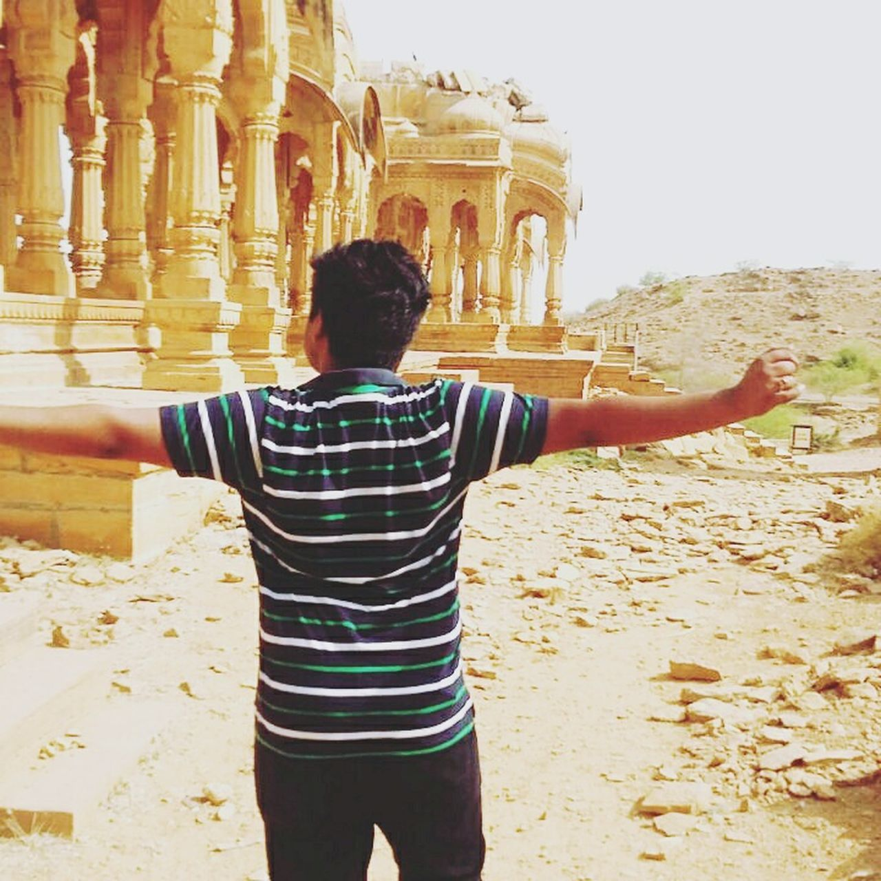 Desert Jaisalmer Barabagh Summer Tired Trip