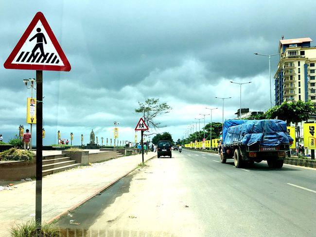 Just X Road Sign Transportation Cloud - Sky Roadside Street The Way Forward Symbol